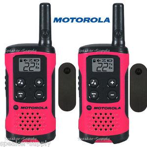 Motorola-Talkabout-T107-Walkie-Talkie-2-Pack-Set-16-Mile-Two-Way-Radios-Pink