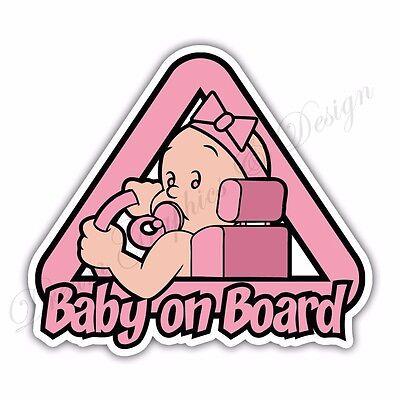 Baby on Board Full Color Adhesive Vinyl Sticker Window Car Bumper 01