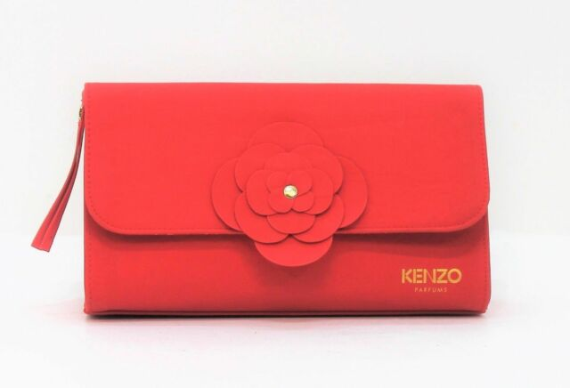 KENZO PARFUMS FLOWER BY KENZO BEAUTY POUCH / CLUTCH BAG