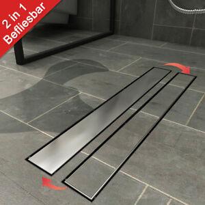 Duschrinne Edelstahl Abfluss befliesbar Duschablauf Bodenablauf für Bad Komplett