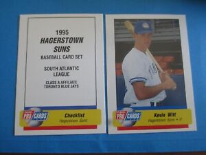 REED JOHNSON 2000 Hagerstown Suns  set KEVIN CASH