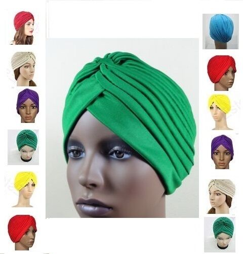 New Full Head Cover Head Turban Head Wrap Hair Loss Chemo Hat Bandana Scarf *Tur