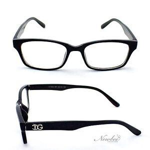 Gloss Black Clear Lens Glasses Men Women Unisex Classic ...