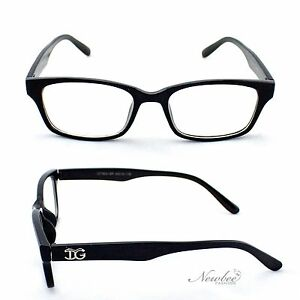 Black Frame Glasses Without Prescription : Gloss Black Clear Lens Glasses Men Women Unisex Classic ...