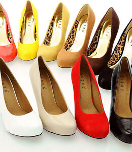 New-Womens-Ladies-High-Heel-Platform-Pumps-Court-Shoes-UK-Size-3-4-5-6-7-8-BECKY