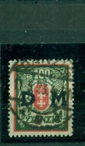 Danzig-D-M-auf-Wappen-Nr-D-34-x-gestempelt-BPP-Inflageprueft