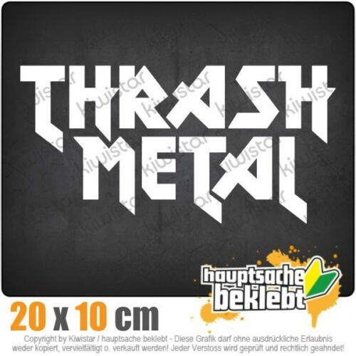 Kiwistar Thrash Metal Hardcore Heavy Death Guitar csf0895 20 x 10 cm Sticker