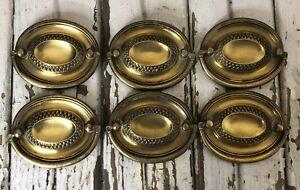 Antique Brass Drawer Dresser Handle Pull Lot 6 # 6504