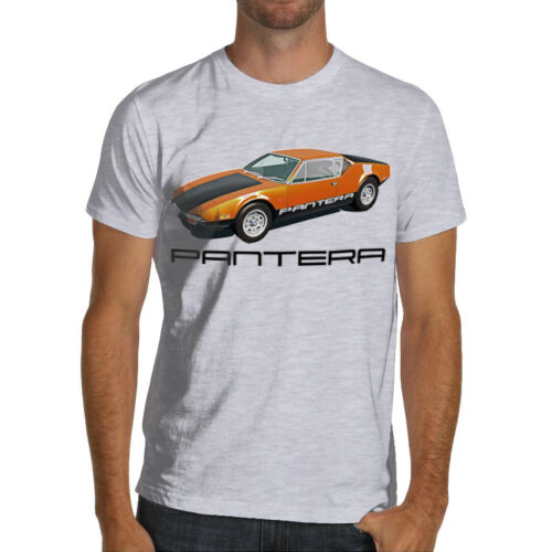 DeTomaso Pantera Classic Italian Racing Car Soft Cotton T Shirt