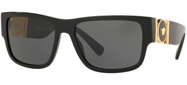 NEW Genuine VERSACE MEDUSA MEDAILLON Black Grey Sunglasses VE 4369 GB187