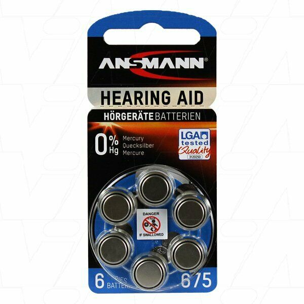 5013253 Ansmann hearing aid battery