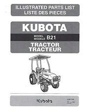Kubota B21 Tractor Illustrated Parts Manual Cd