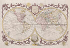 "Beautiful Vintage Old World Map 1782 CANVAS PRINT 24""X 36"" Baldwyn Poster"