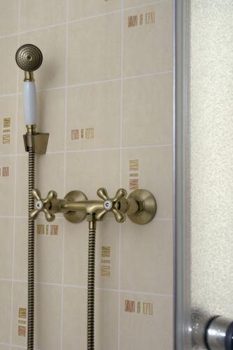 Duscharmatur Dusche Armatur Badezimmer Mischbatterie zweihebelmischer antik Bad