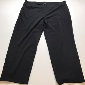 Talbots-Woman-Size-3XP-Black-Cropped-Pull-Pants-A198