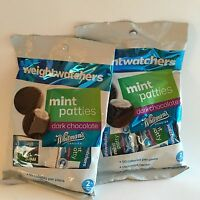 Weight Watchers Whitman's Mint Patties Chocolate Candy (2 Bag Lot)