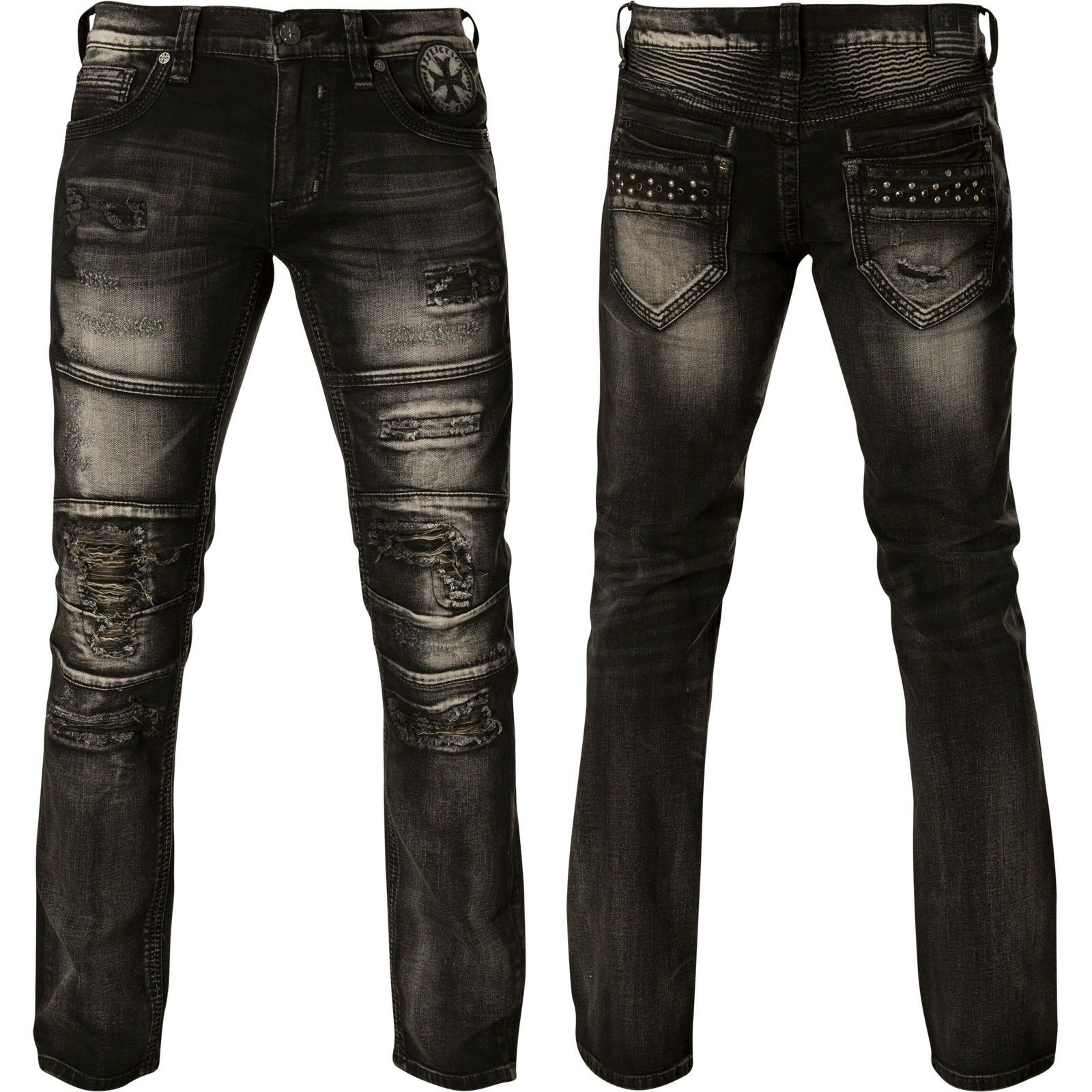 AFFLICTION Jeans Gage Release Release Release Major Schwarz 1cb