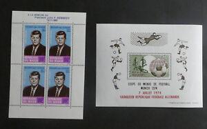 TIMBRES-NIGER-2-blocs-feuillets-Y-T-3-et-12-1964-et-1974-A236