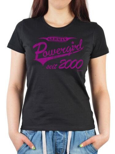 T-Shirt zum 19.Geburtstag für Damen Mädchen Geburtstag Jahrgang 2000-19 Jahre