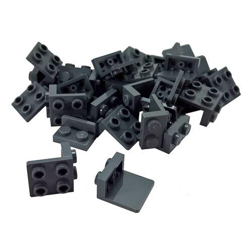 30 NEW LEGO Bracket 1 x 2-2 x 2 BRICKS Dark Bluish Gray