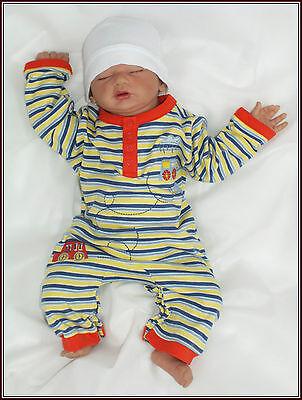Baby Baumwolle Strampler Langarm Romper Overall gr 56 62 68 74 Englandmode