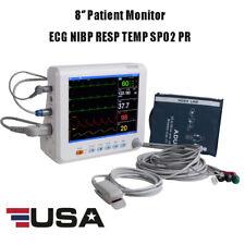 Medical 8 Icu Ccu Vital Sign Patient Monitor 6paras Ecg Nibp Resp Temp Spo2 Pr