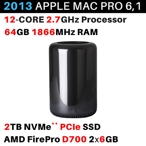 64gb Amd Firepro D700 6gb Sweet-Tempered 2013 Apple Mac Pro 2.7ghz 12-core 2tb Bto/cto Quality First