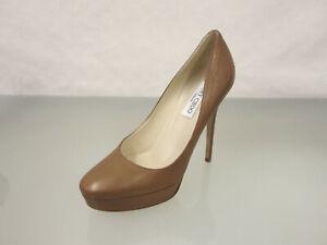 JIMMY CHOO London Leder Pumps Gr.39,5 High Heels Leather Shoes Schuhe Braun