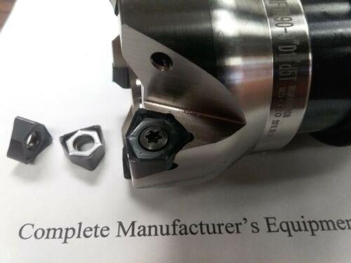 "R8 arbor w w Kyocera WNMG080616 inserts 3/"" 90 degree MFWN90 face mill"