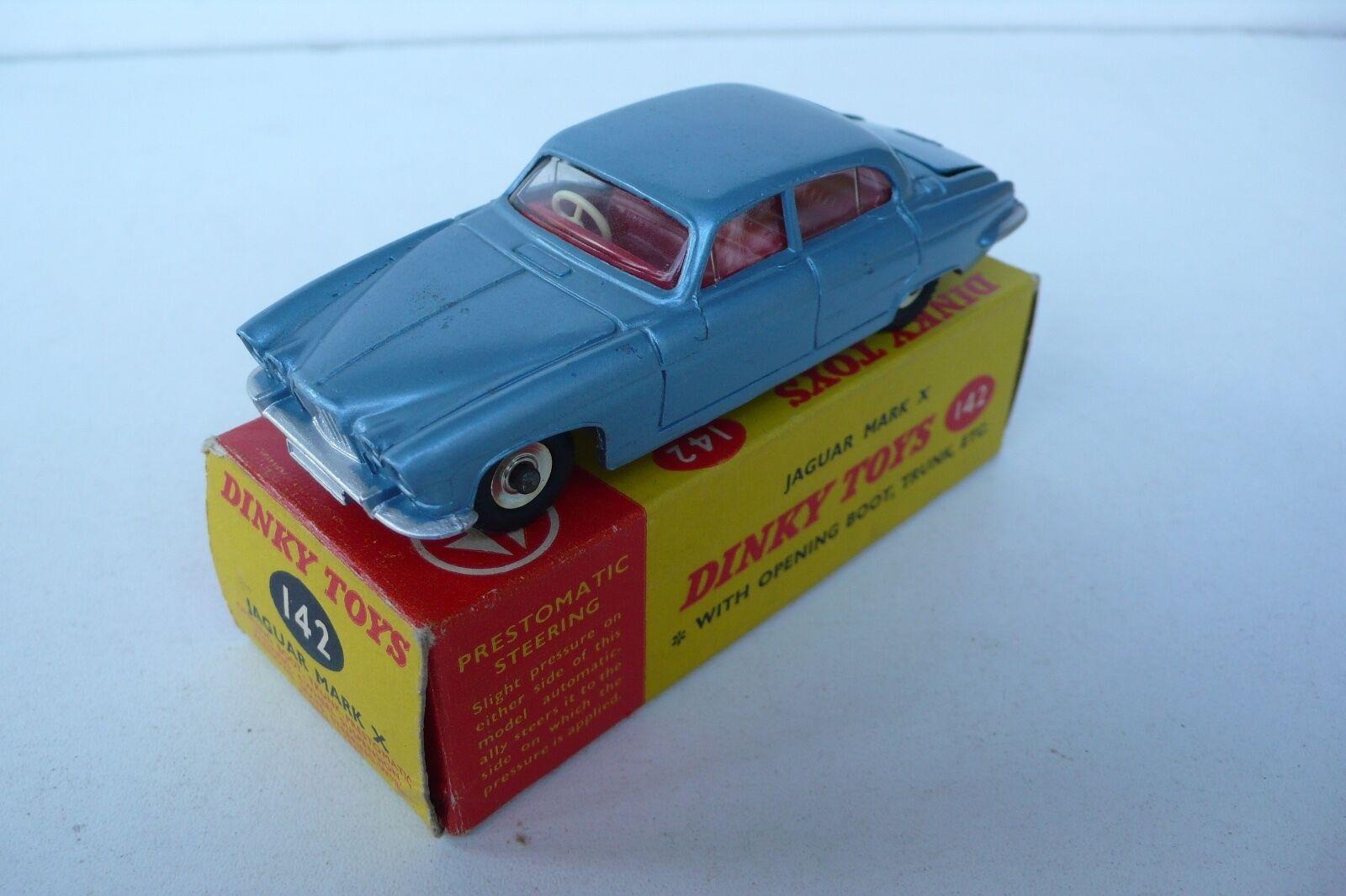 DINKY TOYS GB    JAGUAR MARK X  Ref 142  1962  TRÈS BON ÉTAT  BOITE D'ORIGINE | à La Mode  7c1b54