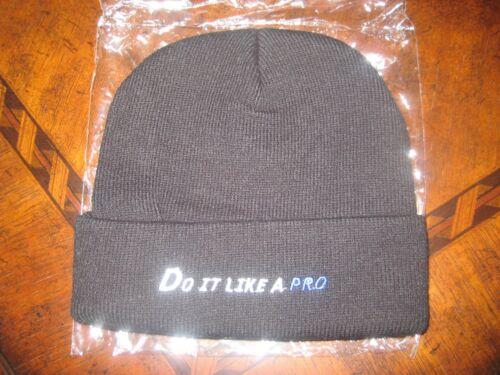 "Promar /""Do It Like a Pro/"" Knit Beanie Cap New in Plastic Black Hat One Size"