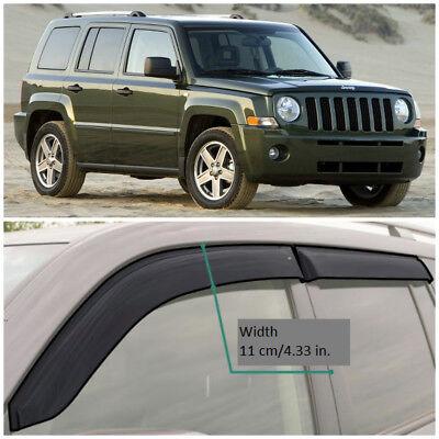 Chrome Trim Window Visors Guard Vent Deflectors For Jeep Liberty Patriot
