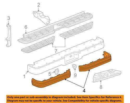 GM OEM-Bumper Trim-Impact Strip Right 15574116