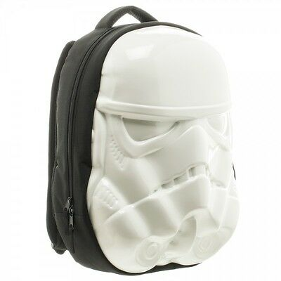 STAR WARS Stormtrooper Helmet Molded White Skate Backpack CLEARANCE SALE