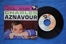 CHARLES AZNAVOUR / EP BARCLAY 70357 / VERSO 1 LABEL 1 / BIEM 09-1961 ( F )