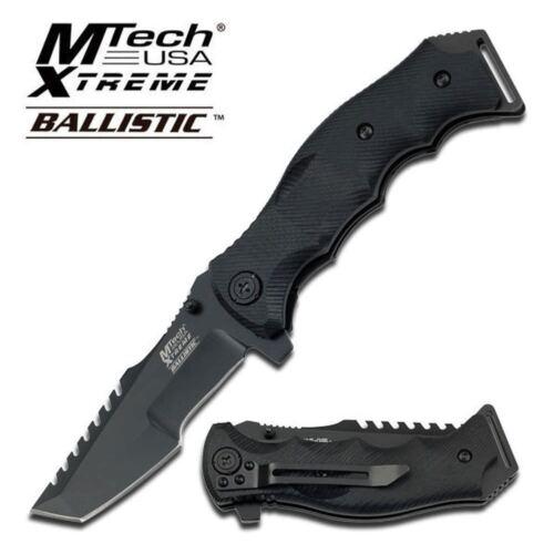 MTech Xtreme Taktische Linerlock Taschenmesser Klappmesser schwarz MX-A805