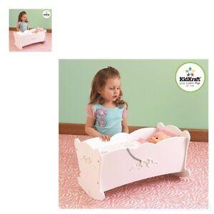 Baby Doll Rocking Cradle Crib Furniture Play Girl Toy W