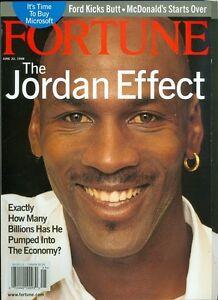 coupe classique 0e9c2 e9b53 Details about 1998 Fortune Magazine: Michael Jordan Chicago Bulls -  Business Effect