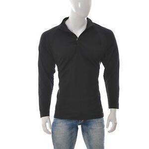Champion-Uomo-Atletico-T-Shirt-Jersey-Activewear-Raglan-Manica-Lunga-Nero-XXL