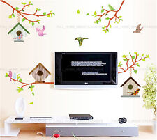 Tree Branch Bird House Wall Art Decal Stickers Home Decor Living Room Bedroom