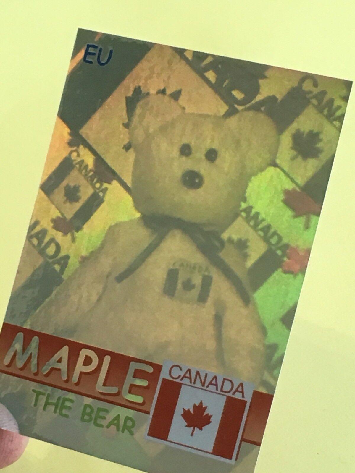 Ty Beanie Babies Trading Card EU Maple The Bear Hologram, Series 2 (426 540)