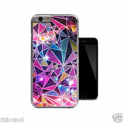 Unique Geometric Pink Nebula Galaxy Space Case Cover For iPhone 4 4s 5 5s 5c 6