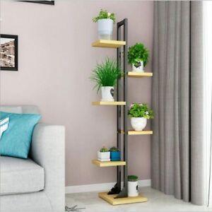 Details about Plant Stand Shelves Iron Frame Flower Shelf Standing Modern  Living Room Decors