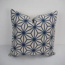 """18""""x45cm Navy Printed 004 Cotton Linen Decor Cushion cover Pillowcase"""