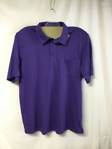 Details about NWOT Big Men's Large & In Charge Polo Shirt w/ Pocket Size 4XL Purple #220R