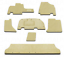 Genuine OEM Honda Odyssey Olive Carpeted Floor Mat Set 2007 83600-SHJ-A11ZA