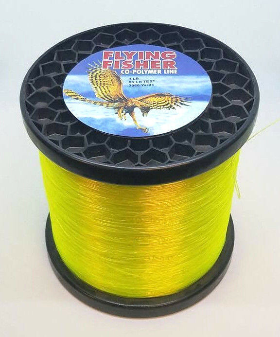 en volant FISHER CO-POLYMER FISHING LINE - 80LB 3060YDS HI-VIS jaune