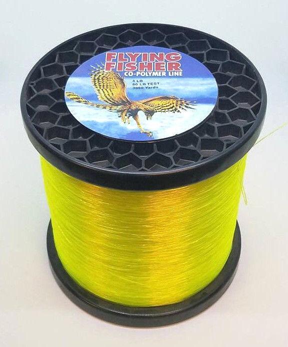 Flying Fisher Co-Polímero de pesca línea - 80LB 3060YDS Hi-Vis  amarillo  la mejor selección de