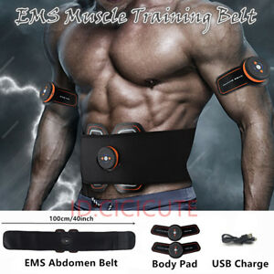 USB-Charging-ABS-Stimulator-EMS-Abdominal-Fitness-Gear-Body-Muscle-Training-Belt