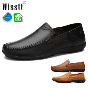 men's leather casual dress shoes breathable antiskid